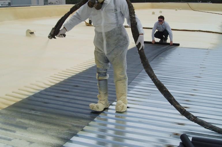 1Spraying metal deck at RFP 001